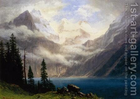 Mountain Scene I by Albert Bierstadt - Reproduction Oil Painting