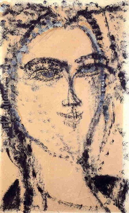 Head I by Amedeo Modigliani - Reproduction Oil Painting