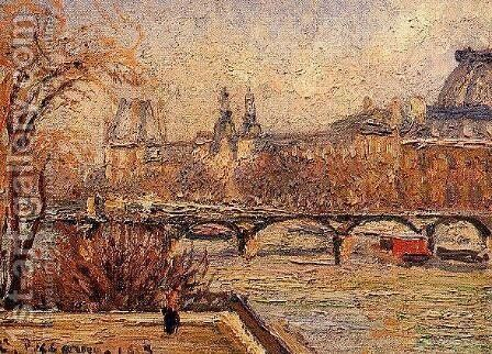 The Louvre - Morning by Camille Pissarro - Reproduction Oil Painting