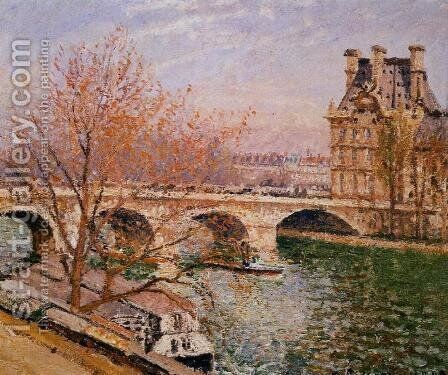 The Pont Royal and the Pavillion de Flore by Camille Pissarro - Reproduction Oil Painting