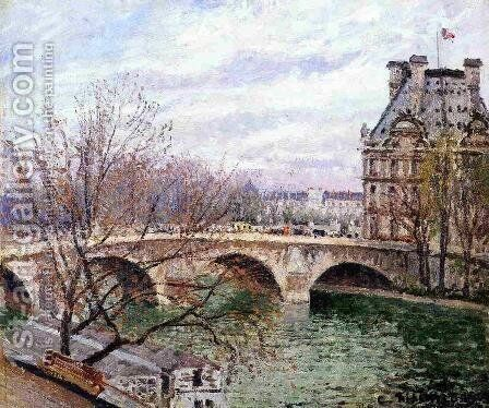The Pont Royal and the Pavillon de Flore by Camille Pissarro - Reproduction Oil Painting