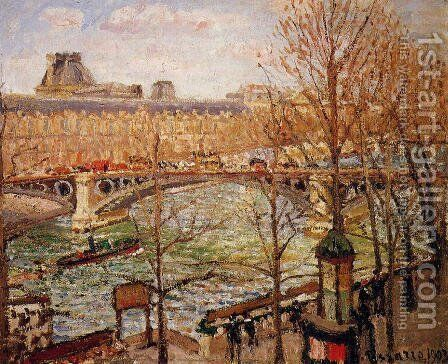 The Pont du Carrousel, Afternoon by Camille Pissarro - Reproduction Oil Painting