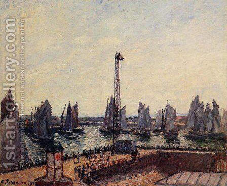 The Inner Port and Pilots Jetty, Le Havre by Camille Pissarro - Reproduction Oil Painting