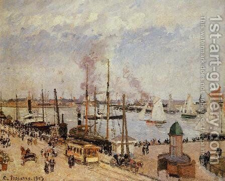 The Port of Le Havre - High Tide by Camille Pissarro - Reproduction Oil Painting