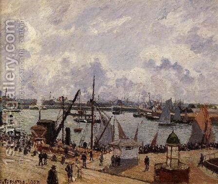 The Inner Harbor, Le Havre - Morning Sun, Rising Tide by Camille Pissarro - Reproduction Oil Painting