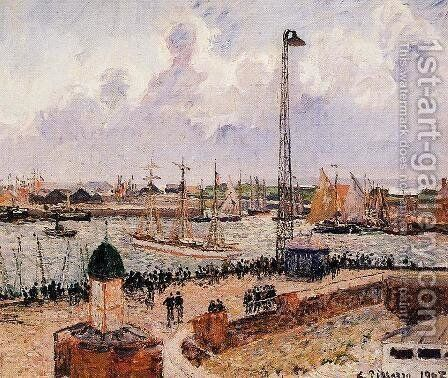 The Inner Harbor, Le Havre by Camille Pissarro - Reproduction Oil Painting