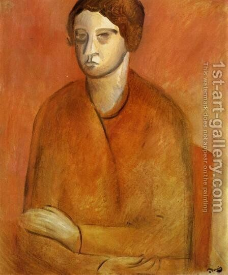 Portrait of a Woman by Andre Derain - Reproduction Oil Painting
