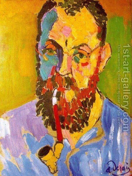 Portrait of Matisse by Andre Derain - Reproduction Oil Painting