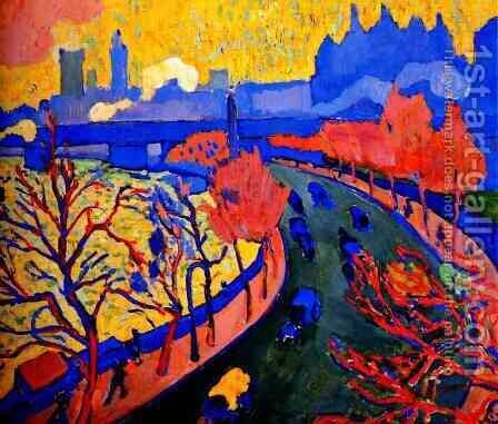 Charing Cross bridge I by Andre Derain - Reproduction Oil Painting