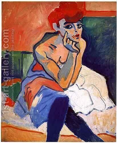 Woman in blue by Andre Derain - Reproduction Oil Painting