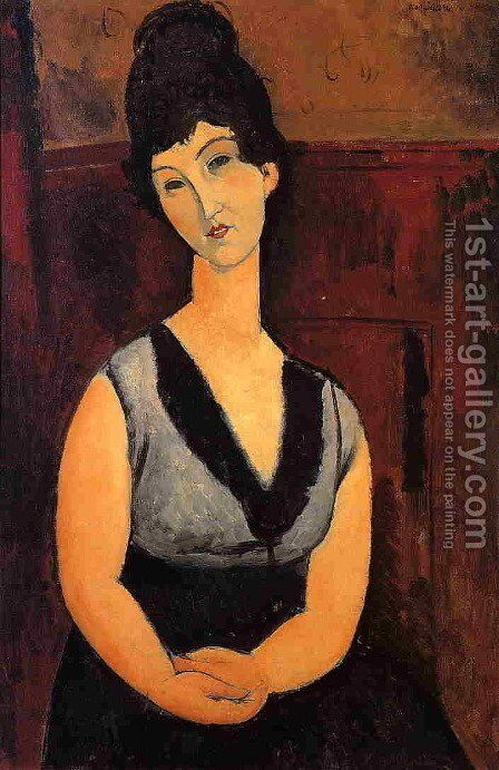 The Beautiful Confectioner by Amedeo Modigliani - Reproduction Oil Painting