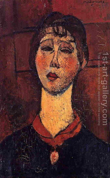 Madame Dorival by Amedeo Modigliani - Reproduction Oil Painting