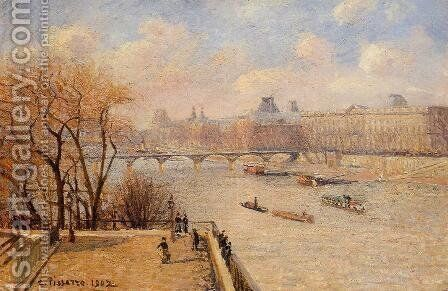 The Raised Terrace of the Pont-Neuf by Camille Pissarro - Reproduction Oil Painting