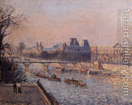 The Louvre, Afternoon by Camille Pissarro - Reproduction Oil Painting