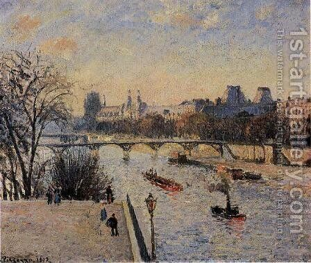 The Louvre by Camille Pissarro - Reproduction Oil Painting