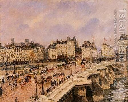 The Pont-Neuf II by Camille Pissarro - Reproduction Oil Painting