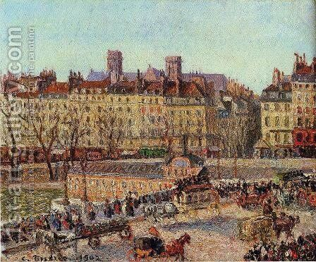 The Baths of Samaritaine, Afternoon by Camille Pissarro - Reproduction Oil Painting