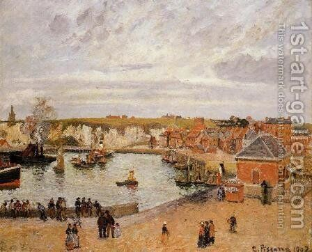 The Port of Dieppe by Camille Pissarro - Reproduction Oil Painting