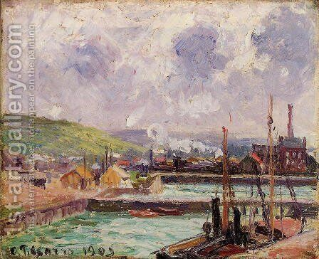 View of Duquesne and Berrigny Basins in Dieppe by Camille Pissarro - Reproduction Oil Painting