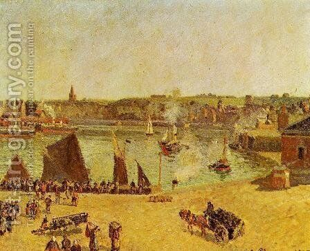 The Inner Harbor, Dieppe by Camille Pissarro - Reproduction Oil Painting