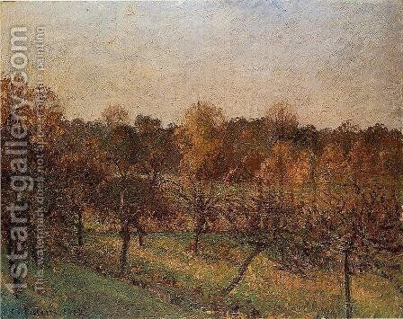 Sunset at Eragny by Camille Pissarro - Reproduction Oil Painting