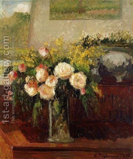 Roses of Nice by Camille Pissarro - Reproduction Oil Painting
