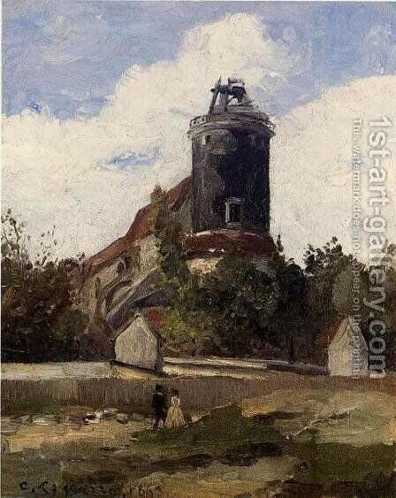 The Telegraph Tower at Montmartre by Camille Pissarro - Reproduction Oil Painting