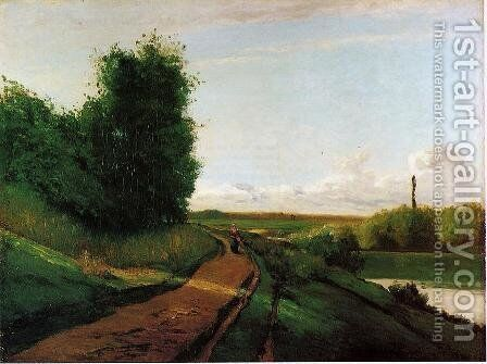 The Banks of the Marne by Camille Pissarro - Reproduction Oil Painting