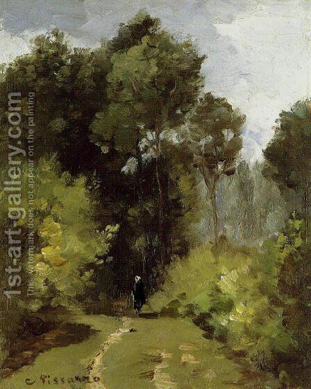 In the Woods I by Camille Pissarro - Reproduction Oil Painting
