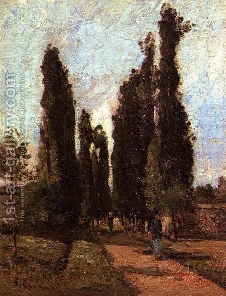 The Road by Camille Pissarro - Reproduction Oil Painting