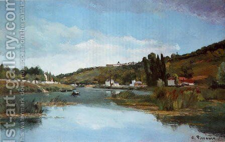 The Banks of the Marne at Chennevieres by Camille Pissarro - Reproduction Oil Painting
