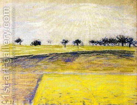 Sunrise over the Fields, Eragny by Camille Pissarro - Reproduction Oil Painting