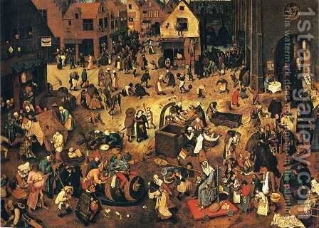 The Battle between Lent and Carnival by Pieter the Elder Bruegel - Reproduction Oil Painting