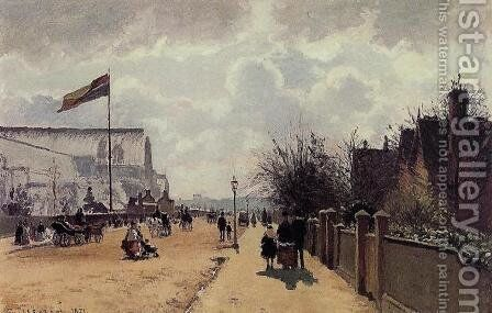 The Chrystal Palace, London by Camille Pissarro - Reproduction Oil Painting