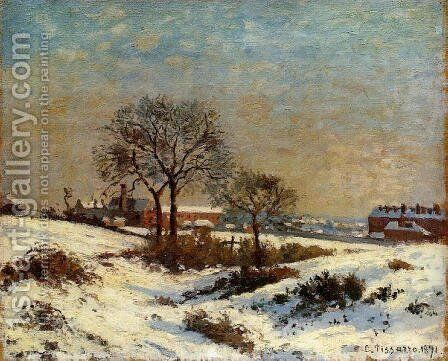 Landscape under Snow, Upper Norwood by Camille Pissarro - Reproduction Oil Painting