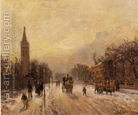 All Saints' Church, Upper Norwood by Camille Pissarro - Reproduction Oil Painting