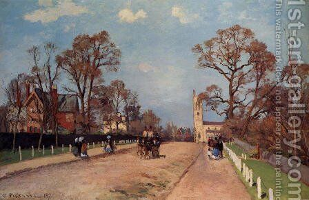 The Avenue, Sydenham by Camille Pissarro - Reproduction Oil Painting