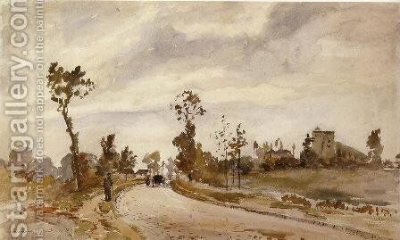 Road to Saint-Germain, Louveciennes by Camille Pissarro - Reproduction Oil Painting