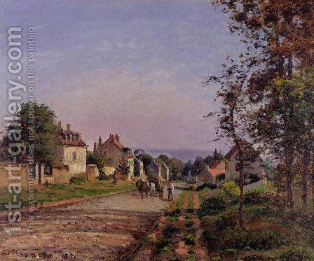 Outskirts of Louveciennes by Camille Pissarro - Reproduction Oil Painting