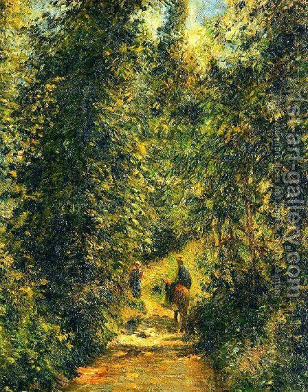 Path under the Trees, Summer by Camille Pissarro - Reproduction Oil Painting