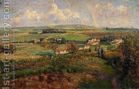 Rainbow, Pontoise by Camille Pissarro - Reproduction Oil Painting