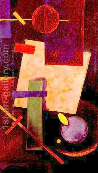 Suprematist compo by Ivan Kliun - Reproduction Oil Painting