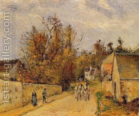 The Stage on the Road from Ennery to l'Hermigate, Pontoise by Camille Pissarro - Reproduction Oil Painting
