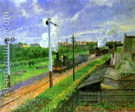 The Train, Bedford Park by Camille Pissarro - Reproduction Oil Painting