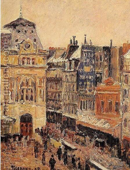 View of Paris, Rue d'Amsterdam by Camille Pissarro - Reproduction Oil Painting
