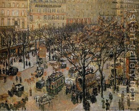 Boulevard des Italiens: Morning, Sunlight by Camille Pissarro - Reproduction Oil Painting