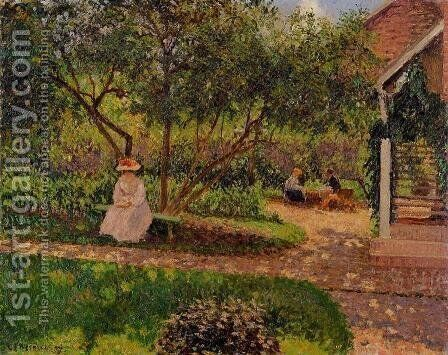 Corner of the Garden in Eragny by Camille Pissarro - Reproduction Oil Painting