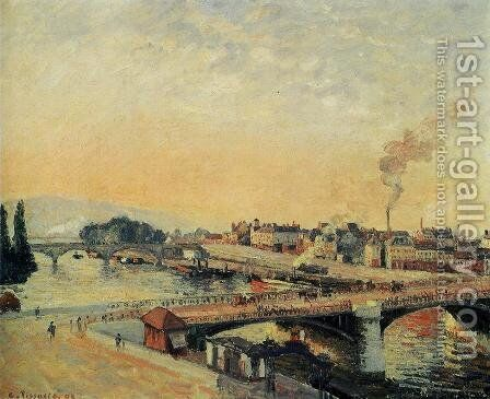 Sunrise, Rouen by Camille Pissarro - Reproduction Oil Painting