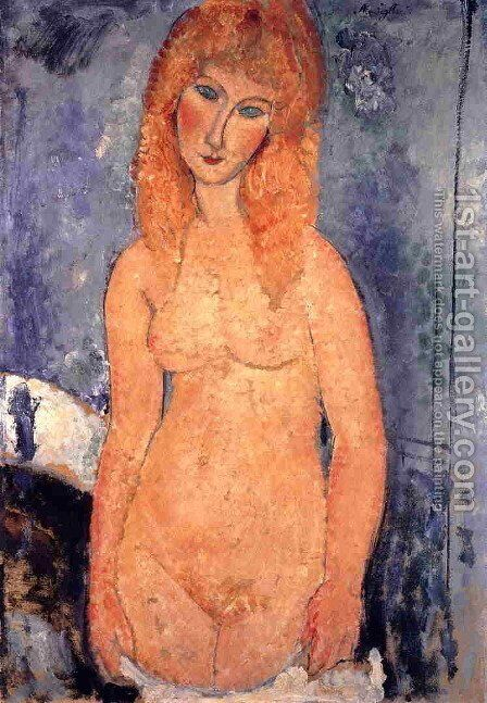 Blonde Nude by Amedeo Modigliani - Reproduction Oil Painting