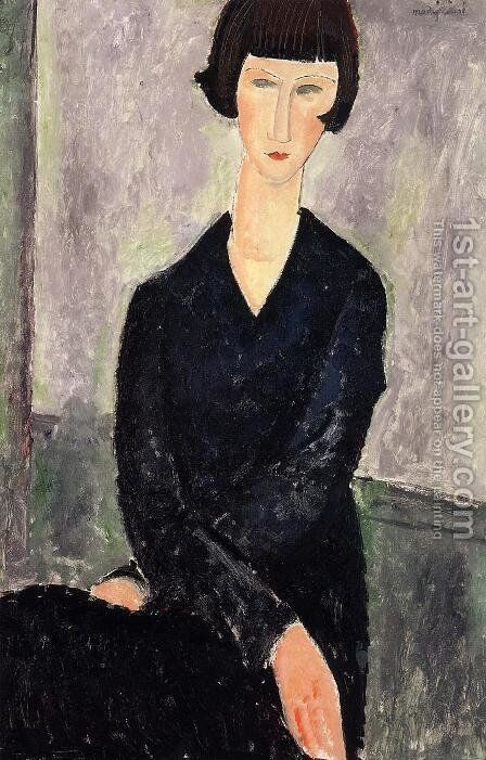 The Black Dress by Amedeo Modigliani - Reproduction Oil Painting